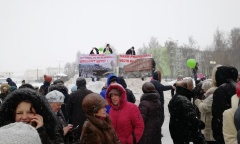 Митинг против Алексинской свалки в Клину собрал более 4 тысяч человек (04.03.2018)