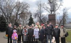 Возложение цветов к памятнику В.И. Ленина в Орехово-Зуево (22.04.2015)