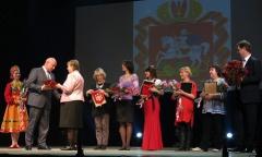 М.П. Леонтьев поздравил коллектив Дворца культуры «Россия» в городе Серпухове с юбилеем (22.04.2015)