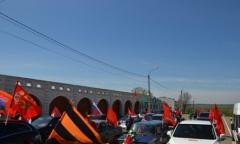 В Зарайском районе коммунисты провели победный автопробег (08.05.2015)