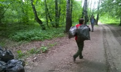 Субботник у платформы Весенняя (06.06.2015)