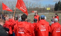 Областной субботник у «Шагающего Ленина» (18.04.2015)