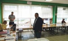 Секретарь МК КПРФ Александр Наумов посетил избирательные участки в Подольске (13.09.2020)