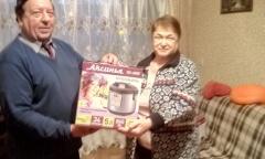 Коммунисты Каширы вручили подарки ветеранам (23.12.2020)