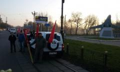 Ногинск: Автопробег в честь 98-й годовщины октябрьской Революции (07.11.2015)