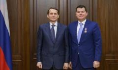 Михаил Авдеев награжден Почетным знаком Государственной Думы «За заслуги в развитии парламентаризма» (15.12.2015)
