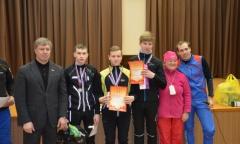 Алексей Русских наградил победителей лыжных гонок в Воскресенске (28.02.2016)