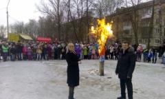 В Щелковском районе проводили зиму (12.03.2016)