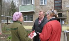 Александр Голуб встретился с жителями поселков Лоза и Березняки (21.04.2016)
