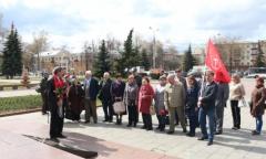 Домодедовские коммунисты отметили 146-ю годовщину со дня рождения В.И. Ленина (22.04.2016)