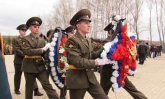 Подольские коммунисты на открытии Вахты Памяти 2016 (28.04.2016)
