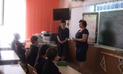 Уроки мужества в Подольской средней школе (08.05.2016)
