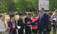 Истринские и красногорские школьники посетили военно-исторический музей (12.05.2016)