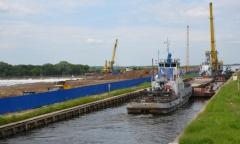 Алексей Русских осмотрел реконструкцию гидроузла на реке Оке в Луховицком районе (03.06.2016)