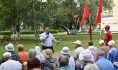 Ступинская организация «Детей войны» провела встречи с жителями города (10.08.2016)