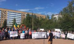 Митинги обманутых дольщиков в Подмосковье (03.09.2016)