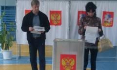 Алексей Русских проголосовал на избирательном участке в Клину (18.09.2016)
