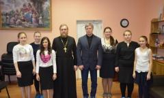 Алексей Русских поздравил детей православного приюта «Покров» (30.12.2016)