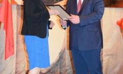 Александр Наумов поздравил с наступающим новым учебным годом педагогов города Пущино (30.08.2016)