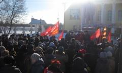 Жители Люберец протестуют (11.02.2017)