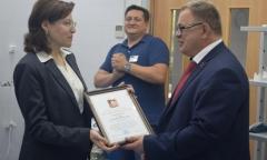 Депутат Александр Наумов поздравил домодедовцев с двумя профессиональными праздниками (17.07.2017)
