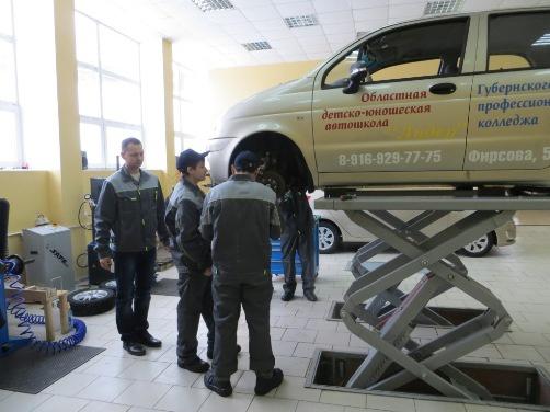 М.П. Леонтьев посетил Губернский профессиональный колледж в городе Серпухове (06.02.2015)