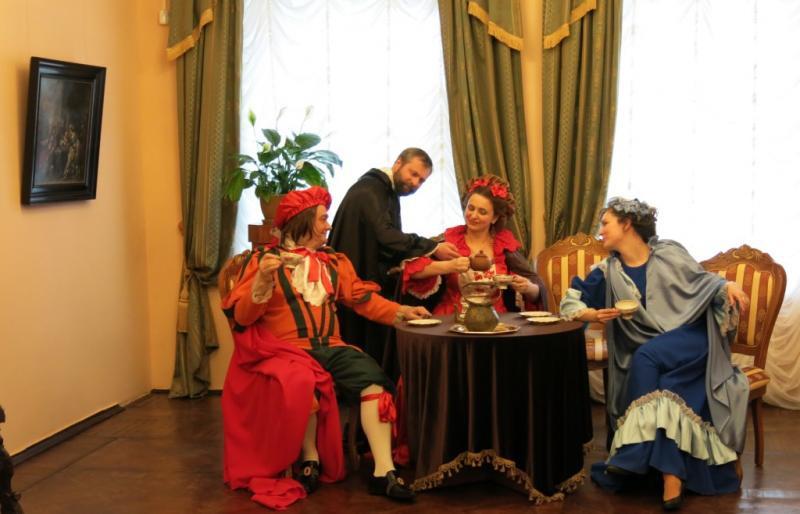 М.П. Леонтьев посетил открытие выставки «Золотой век голландской живописи» в Серпухове (03.04.2015)