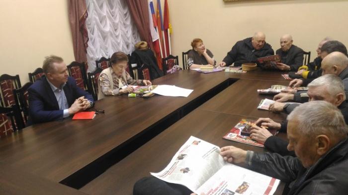 Встреча с ветеранами микрорайона Ферма (17.02.2016)