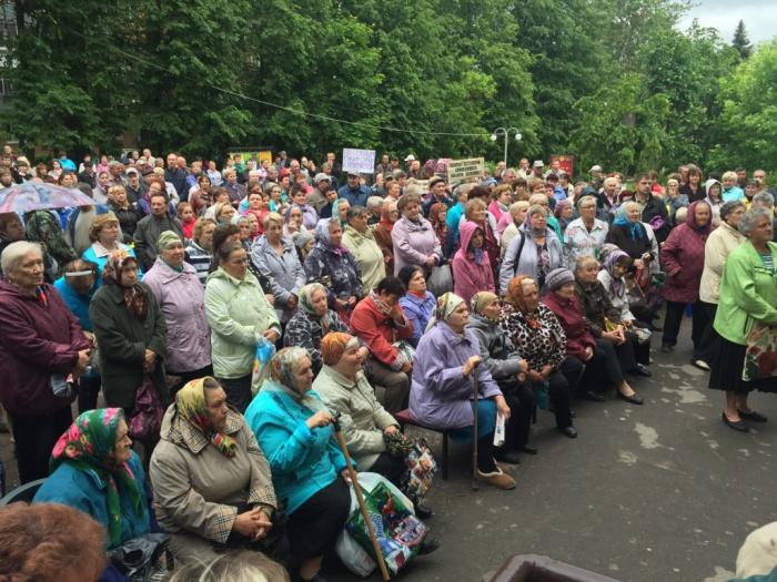 Митинг в поселке Глебовский (11.06.2016)