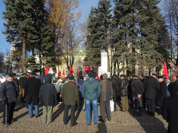 7 ноября в Сергиевом Посаде коммунисты провели митинг на Красногорской площади