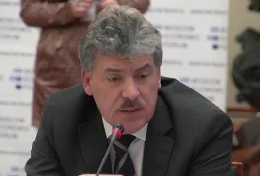 Павел Грудинин: «Если правительство не может ничего, пускай уйдет само»