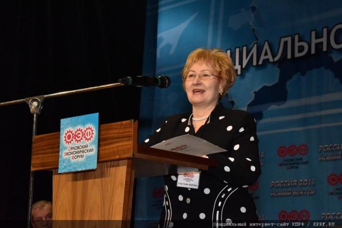 Н.Г. Веселова рассказала участникам Орловского экономического форума о проблемах легкой промышленности