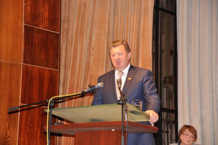 Выступление В.И. Кашина на Конференции трудовых коллективов Московской области