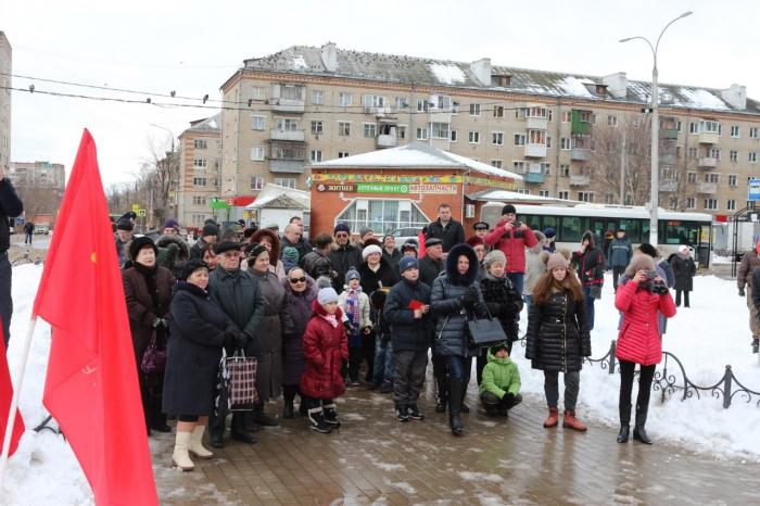 Подольские коммунисты и комсомольцы провели праздничный митинг посвящённый дню создания рабоче-крестьянской Красной Армии
