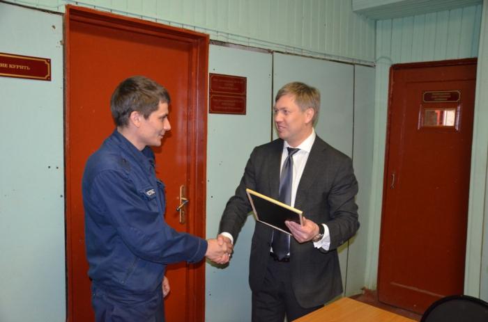 Алексей Русских в Серебряных Прудах встретился с пожарными и работниками дорожной отрасли
