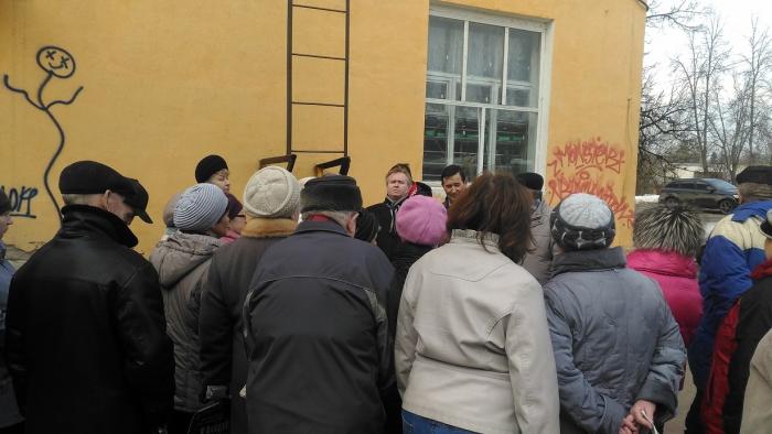 Уличные встречи в городе Краснозаводске