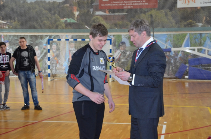 В Зарайске при поддержке А.Ю. Русских прошел межрайоный турнир по мини-футболу на «Кубок Победы»