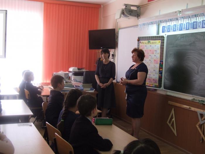 Уроки мужества в Подольской средней школе