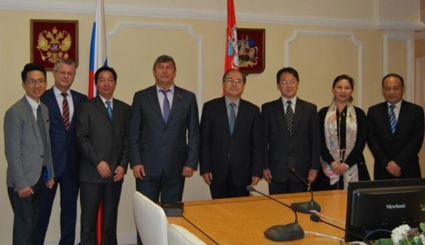 Мособлдуму посетила Делегация Постоянного Комитета Собрания народных представителей провинции Цзянсу (Китайская Народная Республика)
