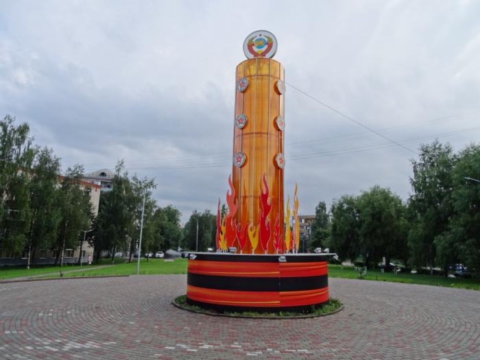 В Сергиевом Посаде поставили пластиковый памятник погибшим героям Великой Отечественной Войны