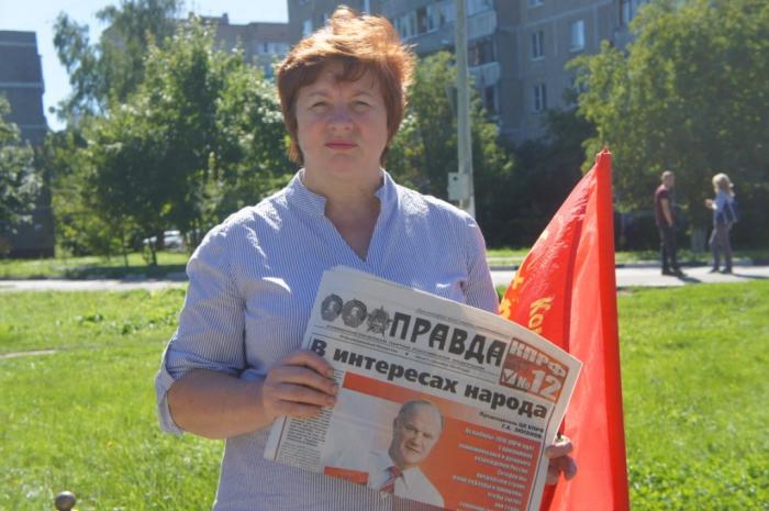 Подольские коммунисты провели митинг в поддержку кандидатов-коммунистов