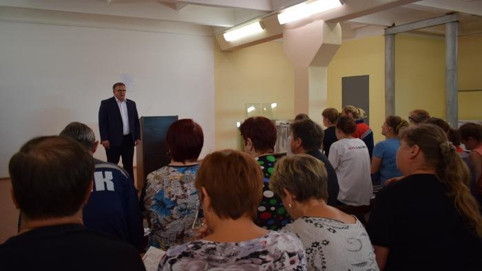 Кандидат в депутаты Московской областной Думы ОТ КПРФ Александр Наумов провел встречи с избирателями в Озёрах