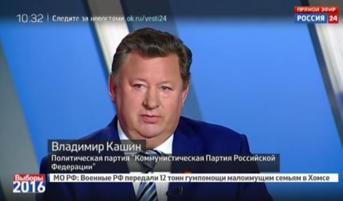 В.И. Кашин принял участие в предвыборных дебатах на телеканале «Россия 24»