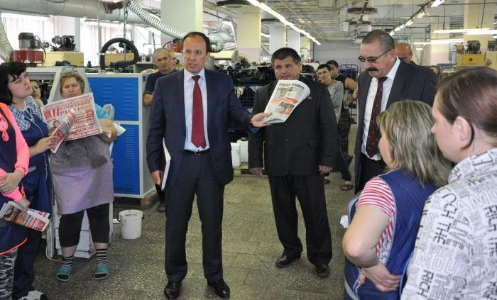 Виталий Фeдоров и Алексей Соколов провели встречи с трудовыми коллективами Зарайского района