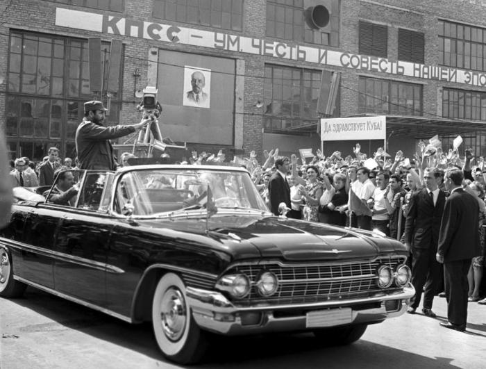 Визит Фиделя Кастро в Советский Союз, в подмосковный город Люберцы