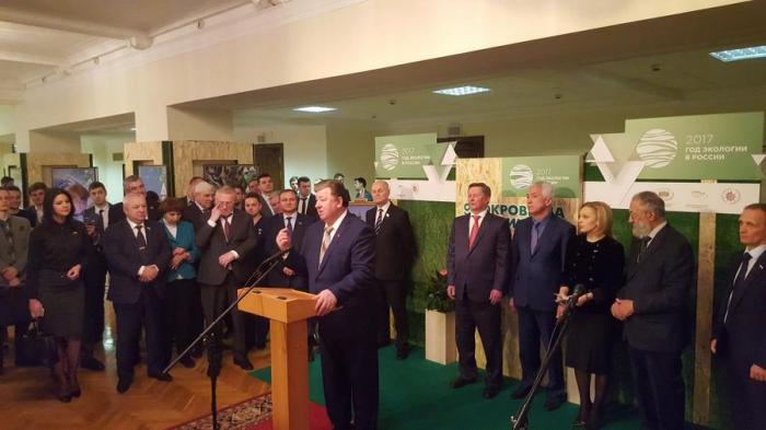 В.И. Кашин принял участие в Госдуме в открытии выставки «ЭКОсокровища России»