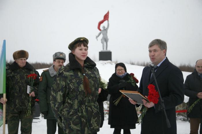 Открытие Кургана Памяти в Лотошинском районе после реконструкции