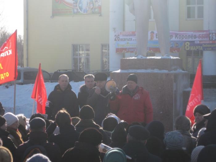 Жители Люберец протестуют
