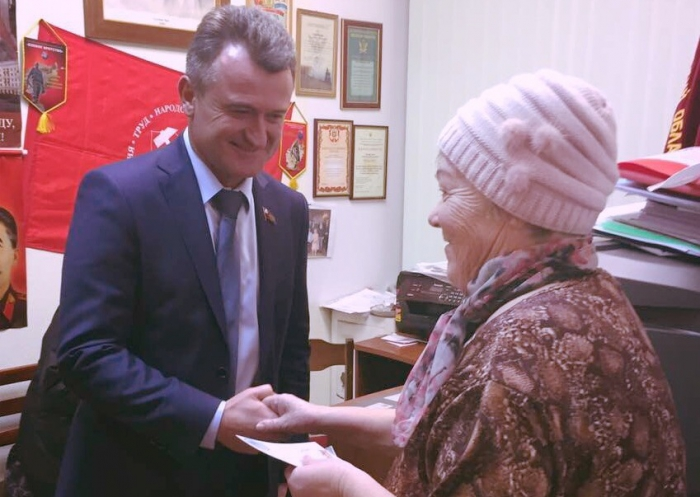 Депутат Мособлдумы Василий Мельников встретился с жителями Пушкино