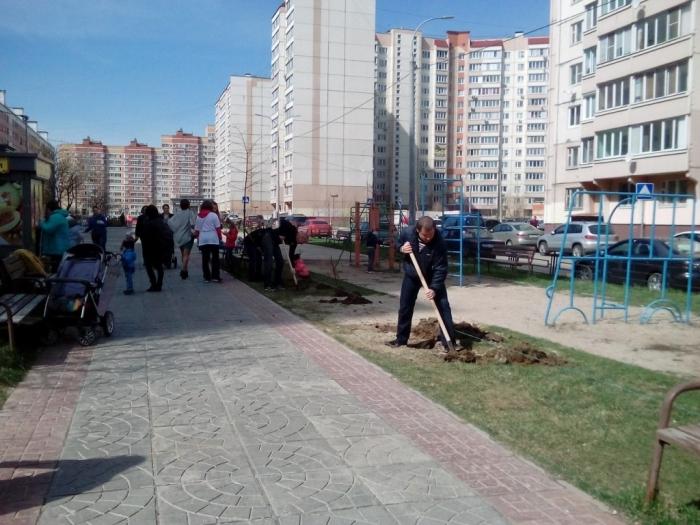 Подольские коммунисты приняли участие в акции «Лес Победы»